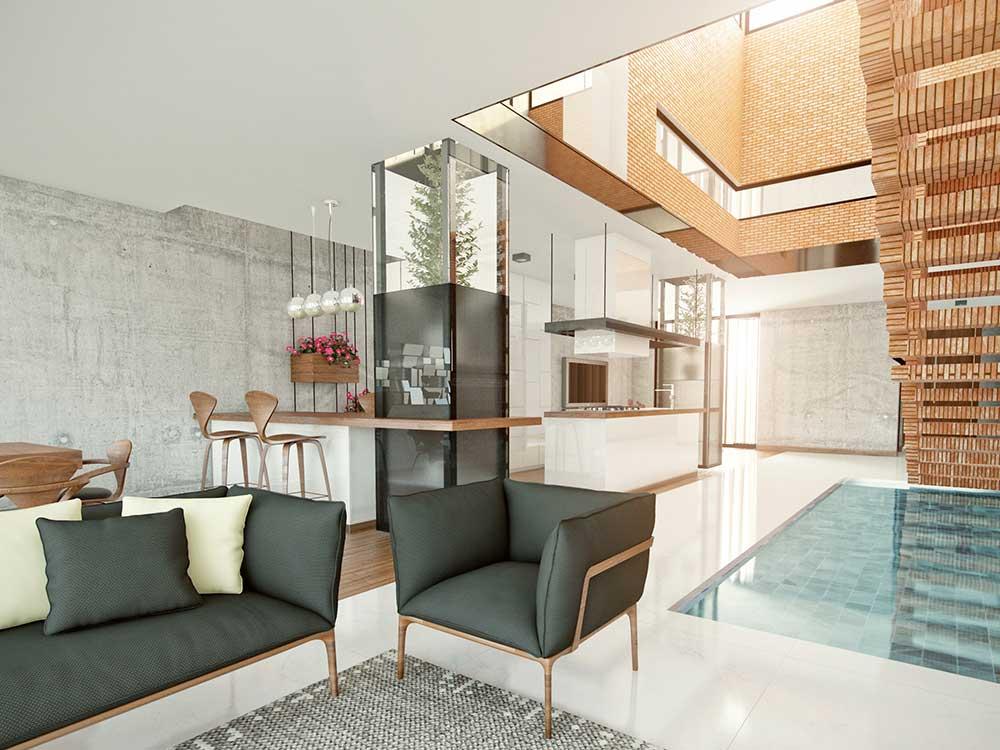 پروژه خانه مکعب شیشه ای