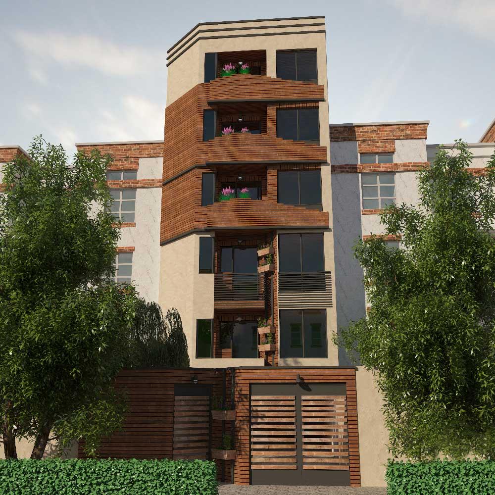 آپارتمان آقای اسماعیلی  خدمات ارائه شده:طراحی نما
